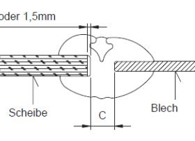 Einbaubeispiel einer 5 mm Glasscheibe in ein Gehäuse